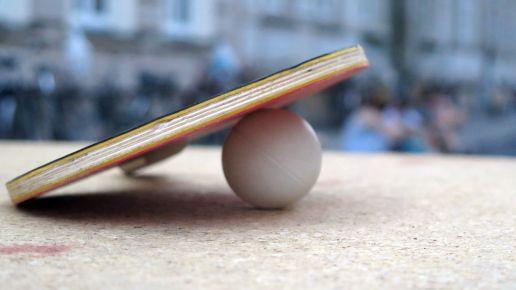 zu heiß für Tischtennis