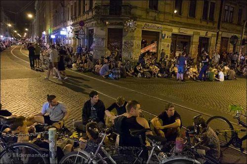 An der sozialen Ecke Görlitzer/Rothenburger/Louisenstraße Foto: Bildermann