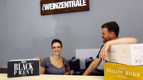 Das Weinzentrale-Team: Jana Schüller und Jens Pietzonka - Foto: Youssef Safwan