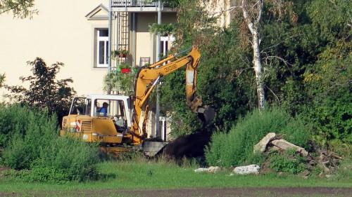 Baustart am Russensportplatz