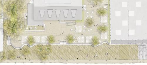 Plan zum Scheunevorplatz - eine aktuelle Visualisierung gibt es nicht.