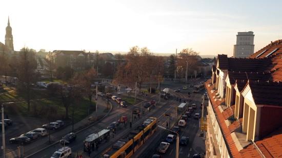 Ziemlich laut: der Albertplatz