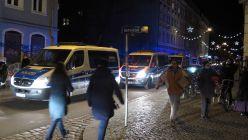 Polizeiaufgebot auf der Sebnitzer Straße