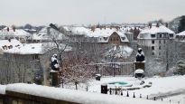 verschneiter Neustadt-Blick von der Dresdner Akademie für Psychotherapie