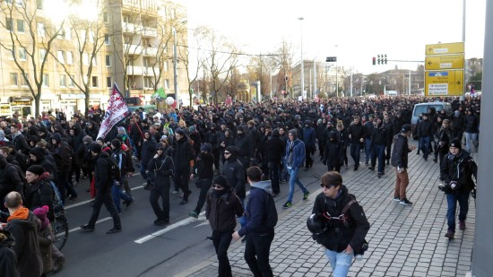 Nopegida-Demo auf der Königsbrücker Straße