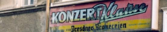 Konzertklause im Jahre 1991