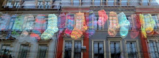 Socken auf der Görlitzer im Januar 2013