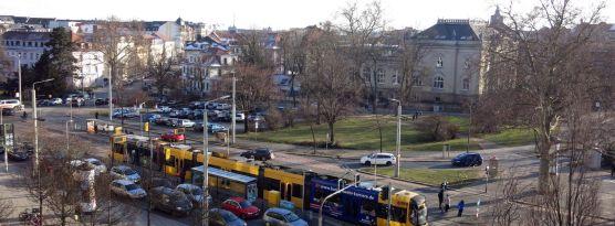 Bautzner Straße im Februar 2015