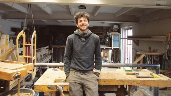 Mobile Holzwerkstatt: Clemens Zichner von der Holzhilfe Dresden
