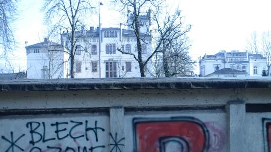 Besprühte Wände sind auf der Radeberger ein rares Gut