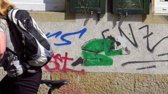 Graffiti an der Böhmischen Straße