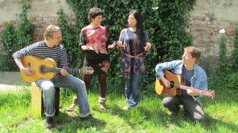 Josel, Maria, Migiwa und Johannes