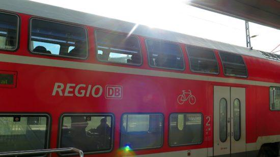 Fahrradmitnahme mit der S-Bahn kein Problem.