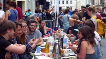 Frühstück auf der Kamenzer Straße