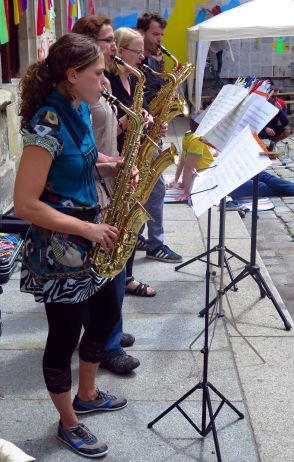 Saxophonquartett auf der Sebnitzer