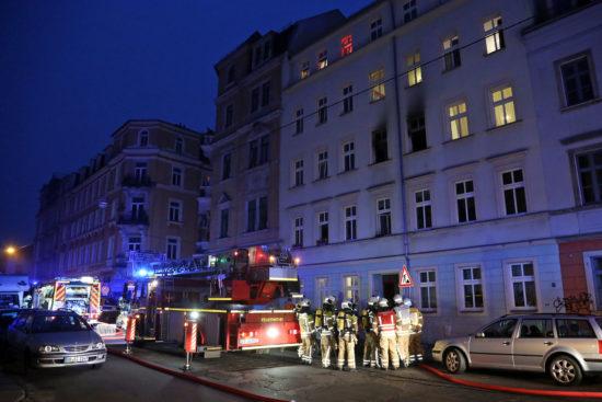 Brand auf der Louisenstraße