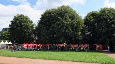 Rund 20 Künstler und noch viel mehr Besucher kamen.