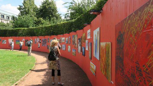 Große Open-Air-Galerie