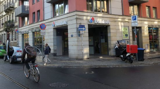 Alaunstraße/Ecke Bischofsweg: aus Joey's wurde Domino's