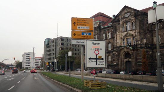 Albertstraße ist am Sonntag von 6 bis 20 Uhr gesperrt.