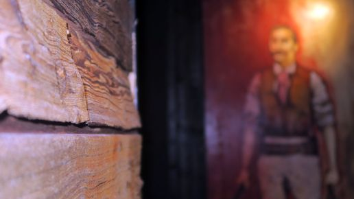Holzgetäfelte Wände - raues Ambiente