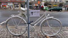 Geisterrad an der Kreuzung Rothenburger-/Bautzner Straße