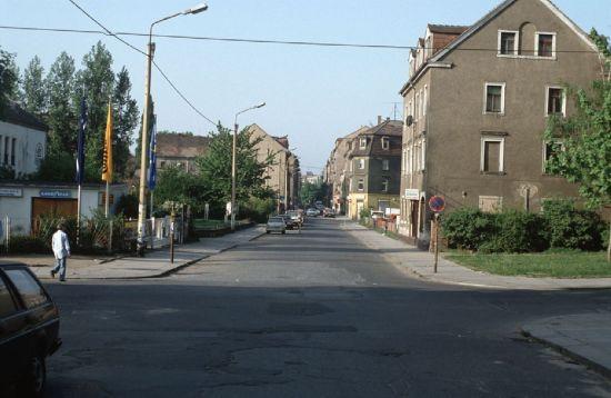 Das Kuchenloch - Alaunstraße Anfang der 1990er - Foto: Lothar Lange