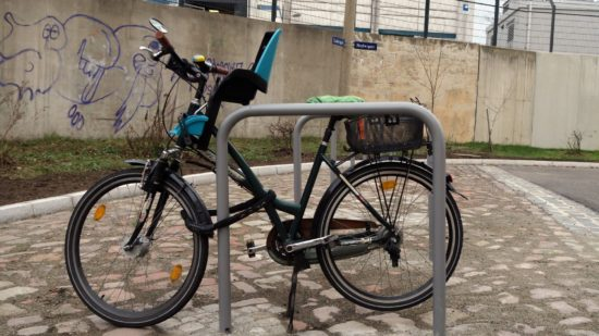Die neuen Fahrrad-Bügel an der Ludwig-/Ecke Hedwigstraße.