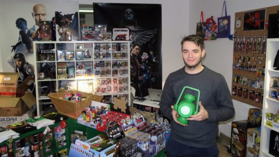 """Philipp Maertens, Chef und Fan von """"The Green Lantern"""""""