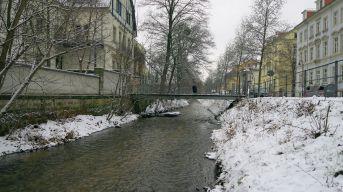 Prießnitz im Winter