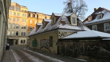 Wolfsgasse - Blick Richtung Bautzner Straße