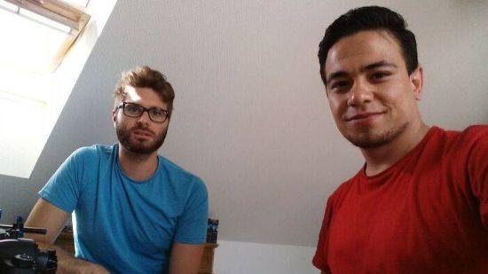 Javier Sobremazas und Rahmat Haidari