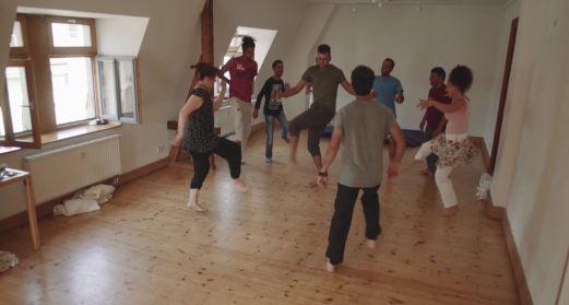 """Tanzstunde in der Katharinenstraße 9 - Szene aus """"The New City"""""""