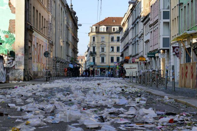Görlitzer Straße am Sonnabend um 5 Uhr.