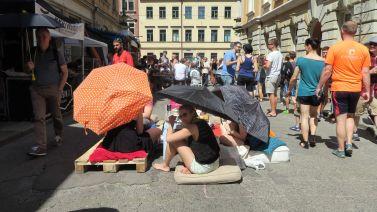 Sonnenschirme statt Regenschirme
