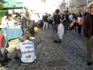 Bekenntnis auf der Sebnitzer Straße