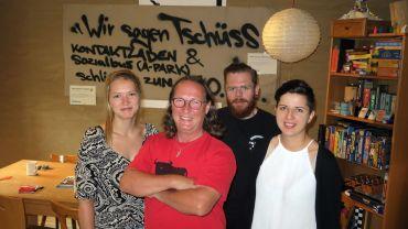 Treberhilfe-Team an der Albertraße: Eva Karsten, Dieter Wolfer, Thorsten Beigweihe, Luisa Neumann