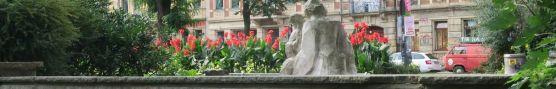 Blumenbeet am Alaunplatz