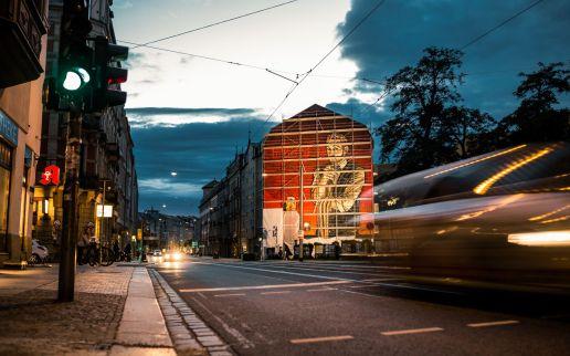 Die Wand bei Nacht - Foto: Tobias Ritz