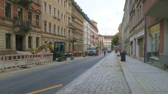 Ebenfalls fast fertig: der südliche Abschnitt der Martin-Luther-Straße