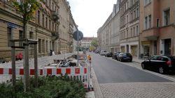 Fast fertig: südliche Martin-Luther-Straße