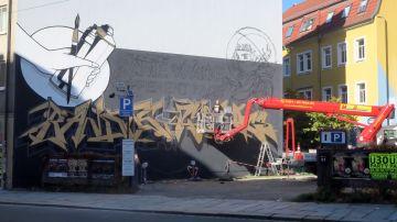 Neues Bandits-Wandbild an der Bautzner Straße