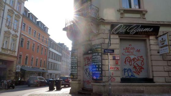 Old Beams an der Ecke Jordan-/Alaunstraße