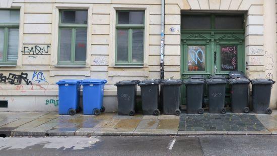 Mülltonnen auf der Förstereistraße - Foto: Archiv