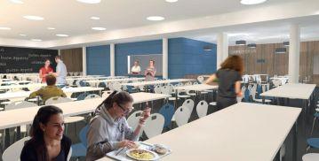 Speiseraum im Gymnasium - Visualisierung: NBHG Architekten