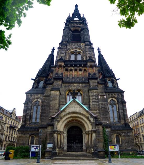 Martin-Luther-Kirche: Wer es bis hoch schafft, kann runtergucken.