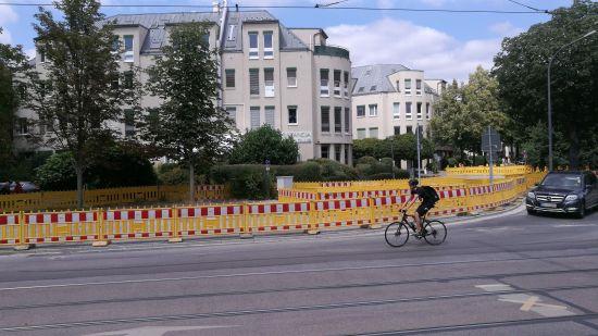Fast abgeschlossen. Die Abwasser-Baustelle an der Forststraße.