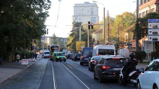 Nur wenige nutzten die Ausweichstrecke über Stetzcher und Erna-Berger-Straße