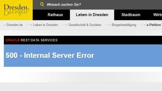 Das IT-System der Stadtverwaltung funktioniert aktuell nicht.