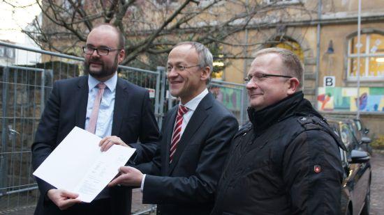 Christian Piwarz, Peter Lames und Karsten Jonas